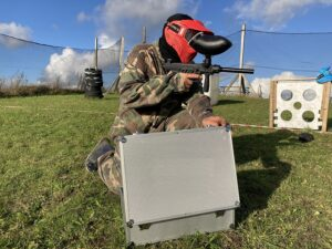 Paintball i BombSquad-bane hos Outdoor Games