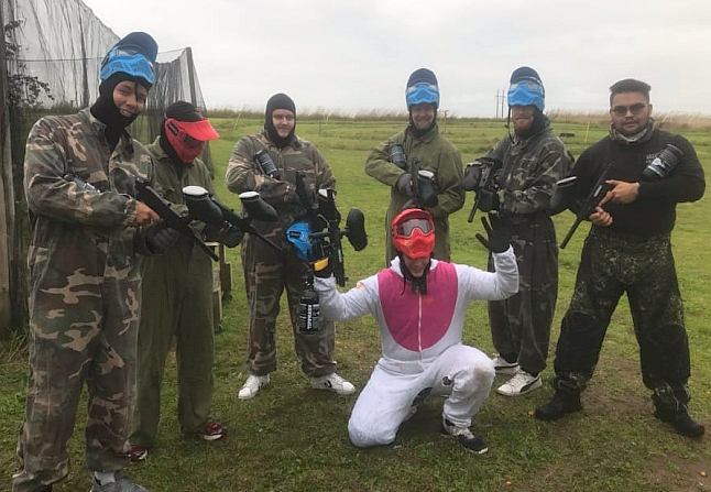 Polterabend med paintball